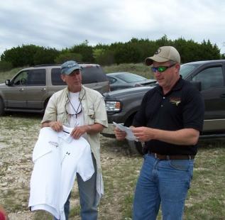 Dave Martin wins a shirt!  Fish Fry at Cleburne Six O Ranch.