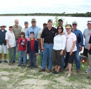 The whole gang! Club Fish Fry at Cleburne Six O Ranch.