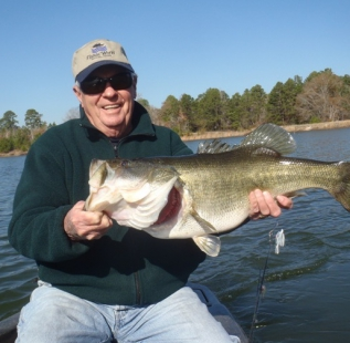 Jim Middleton holds a double digit fish caught at Longbranch Yates Place in early January. This site just keeps producing and Jim keeps proving that with his catches.
